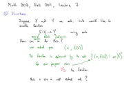 Math 303 Functions Notes