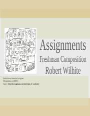 freshman composition assignments