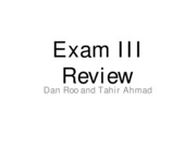 TA Exam III Review2010