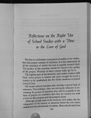 Simone Weil - The Right Use of School Studies