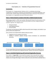 Cisco Systems - Organizational structure.docx