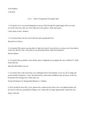 MBA Business Law Essay - Topic?