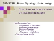Lecture 5-Insulin and Glucagon