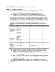Fall 2013_PSYC 2000 Exam 2 Study Outline