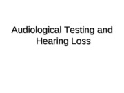 Lecture 17 - Audiology 2