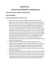 BSBMGT617A Develop and implement a business plan 6.docx