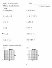 7.5 Quiz - Complex Numbers - Review with Key.pdf