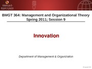 BMGT 364 Session 9 - Innovation - handouts