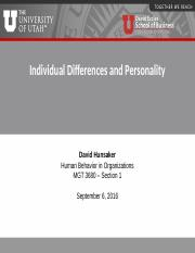 5 Individual Differences and Personality