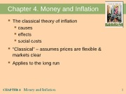 Chapter 4 Money and Inflation 1