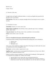 Business Law- Chapter 2 notes