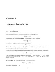 Math 334 Laplace Transforms Notes