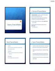 Chapter 5 - Financial Markets- theory