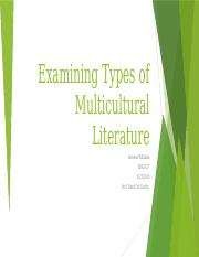 Examining Types of Multicultural Literature.pptx