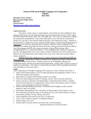 Advanced Placement English Language and Composition2013-14 Syllabus.doc