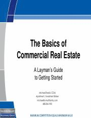 Section I - The Basics of Commercial Real Estate.pdf