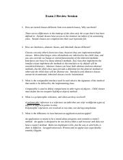 CSE 205 exam 2 review answers