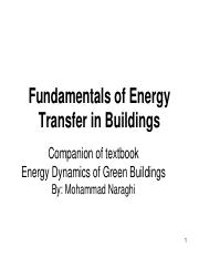 Chapter 4 Fundamentals of Energy Transfer in Buildings (1)