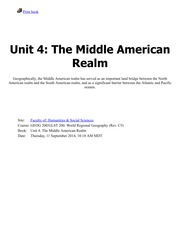 Unit 4-The Middle American Realm