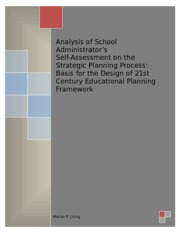 ANALYSIS OF SCHOOL ADMINISRATOR'S SELF-ASSESSMENT ON THE STRATEGIC PLANNING PROCESS