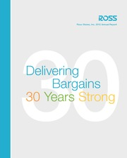 Ross 2012 Annual Report
