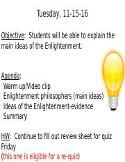 what was the enlightenment philosophers main idea