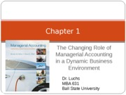 MBA 631 Chapter 1