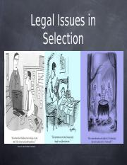 Legal Issues for lecture I
