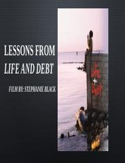 Life and Debt PowerPoint