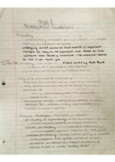 Philisophical Foundations Notes