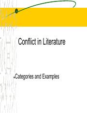 Conflicts in Literature