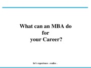 What can an MBA do for your Career- 14