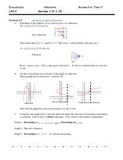 Precalculus Review For Test 2 Solutions