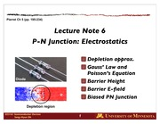 Lect 06 PN Electrostatics (part 1)