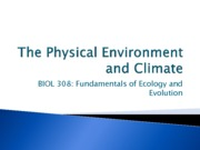 10-Physical Environment and Climate
