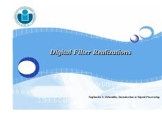 Lecture 07 - Digital Filter Realizations.pdf