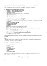 American Lit H Midterm Study Guide '13