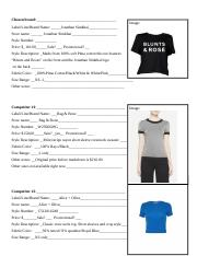 example Market research worksheet