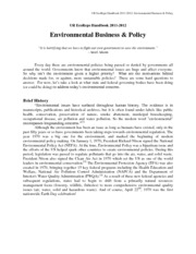 Chapter 12 - Environmental Business & Policy