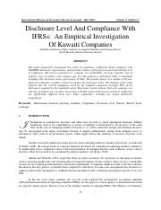 level of compliance kawit.pdf