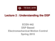 Lecture 2 DSP Overview (1-26-15)