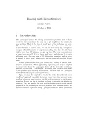 Dealing with Discontinuities
