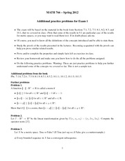Additional practice problems for Exam 1