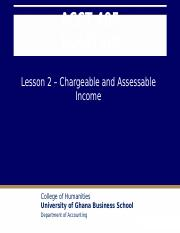 Lesson 2 Chargeable and Assessable Income.pptx