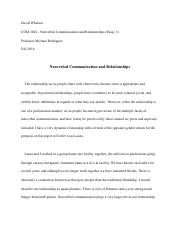 com nonverbal communication fiu page course hero 3 pages essay 3 nonverbal communication and relationships