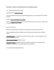 Chem 1405; Measurements and Mathematics Notes.docx
