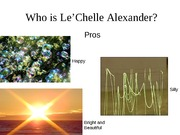 Who is Le'Chelle Alexander finished