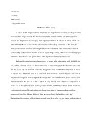The Known World Essay