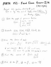 Review for Final 1 solutions