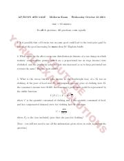 2013 Midterm Exam With Solutions and Final Exam